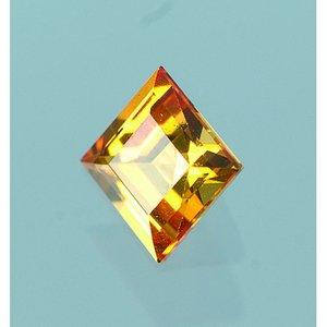 Syntetisk ädelsten 5 x 5 mm - topas 1 st. kvadrat / synt. / upp till 800 ° C