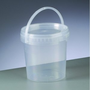 Tom behållare ø 120 mm h 120 mm - transparent 1000 ml