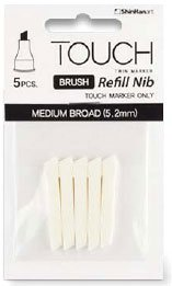 Touch Brush Marker Spets 5st - Medium Bred