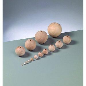 Träkulor med hål (mängder med olika storlekar och kvantiteter)