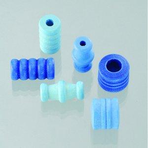 Träpärlor - blåmix 28 st. färg-form mix