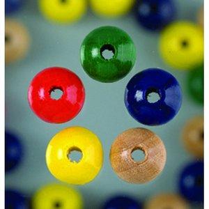 Träpärlor - blandade färger