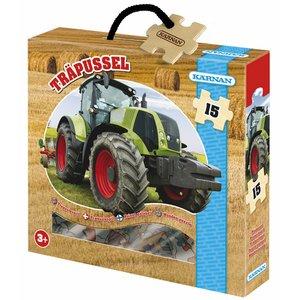 Träpussel Traktor