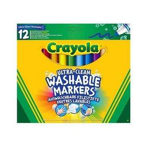 Tvättbara markers Crayola - 12 pennor