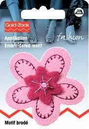 Tygmärke Filt Blomma rosa