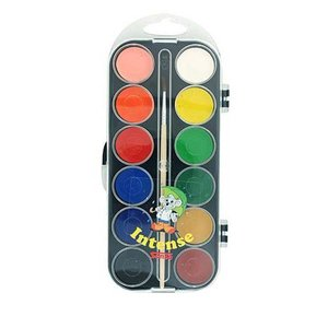 Vattenfärglåda Basfärger Sense - 12 färger