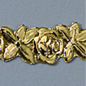 Vaxdekoration bård 10 x 200 mm - guld briljant 1 st. Blommor