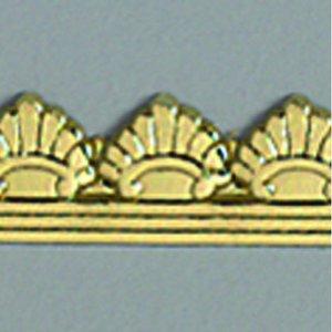 Vaxdekoration bård 10 x 200 mm - guld briljant 1 st. klassisk