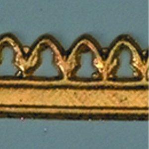 Vaxdekoration bård 20 x 1 cm - guld bård