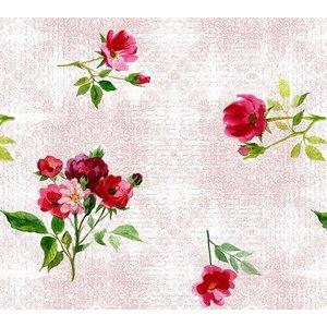 Vaxduk Blommor - Rosa