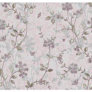 Vaxduk Blommor & blad - Rosa