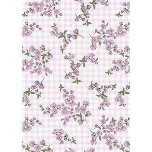 Vaxduk Små blommor - Rosa