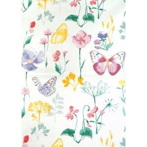 Vaxduk blommor & fjärilar