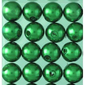 Vaxpärlor ø 8 mm - grön 32-pack