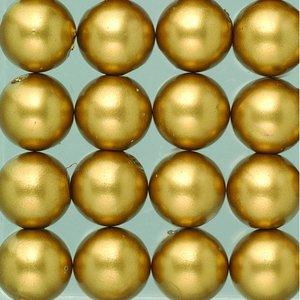 Vaxpärlor ø 8 mm - guld matt 32-pack