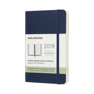 Veckokalender 2019 Soft cover Safirblå