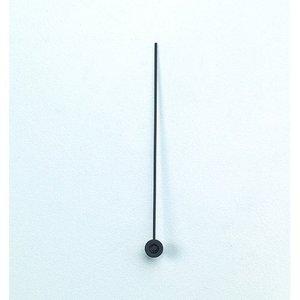 Visare 70 mm - svart 10-pack metall