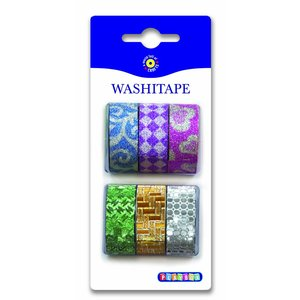 Washitape Glitter 6-pack