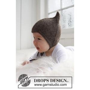 Alladin by DROPS Design - Hjälmmössa Stick-mönster strl. 1/3 mdr - 3/4
