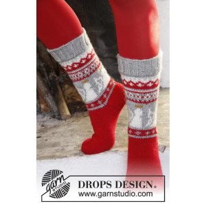 Angel Feet by DROPS Design - Sockor Stick-opskrift str. 32/34 - 41/43