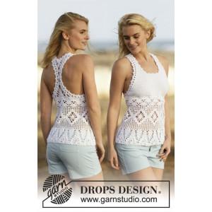 Aphrodite by DROPS Design - Topp Virk-opskrift strl. S - XXXL