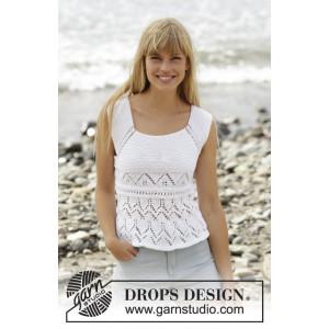 Aura by DROPS Design - Topp Stick-opskrift strl. S - XXXL