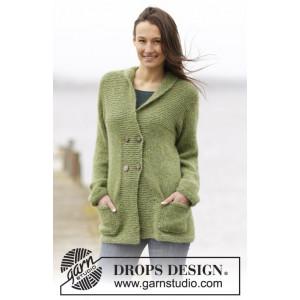 Autumn Forest Jacket by DROPS Design - Jacka Stick-opskrift strl. S -
