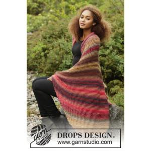 Autumn Lights by DROPS Design - Filt Stick-opskrift 140x90 cm