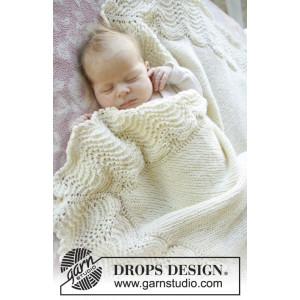 Baby Bliss by DROPS Design - Baby Filt Stick-mönster 80x80 cm