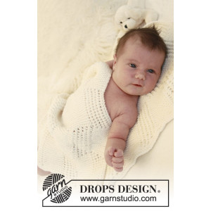 Baby Cloud by DROPS Design - Baby Filt Stick-mönster 70x94 cm