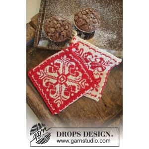 Baking Christmas by DROPS Design - Grytlappar Stick-opskrift 20x19 cm