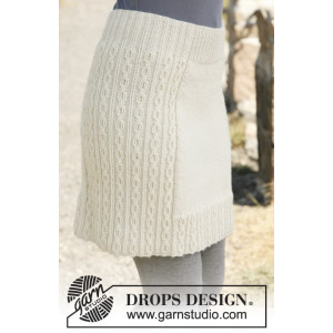 Belle by DROPS Design - Kjol Stick-opskrift str. S - XXXL
