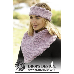 Braided Warmth by DROPS Design - Pannband og Halsvärmare Stick-opskrif