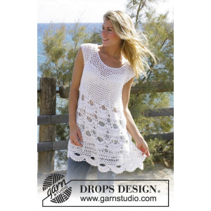 Breath of Summer by DROPS Design - Tunika Virkmönster str. S - XXL