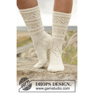 Bright Side by DROPS Design - Sockor Stick-opskrift str. 35/37 - 41/43