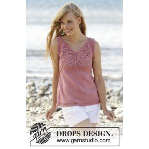 Butterfly Heart Topp by DROPS Design - Topp Stick-opskrift strl. S - X