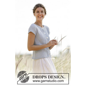 Charlotte Cardigan by DROPS Design - Cardigan Stick-opskrift strl. S -