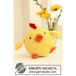 Chicken Little by DROPS Design - Påskkyckling Virk-mönster 12 cm