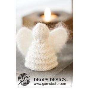 Christmas Cherub by DROPS Design - Änglar Julpynt Stickbeskrivning 7