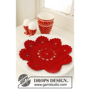 Christmas Dinner by DROPS Design - Bordstablett Virk-mönster 24 cm