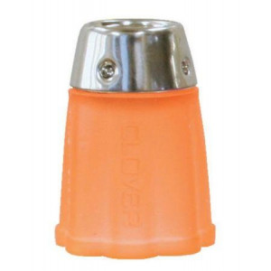 Clover Fingerborg Orange Silikon / Gummi med metall 14