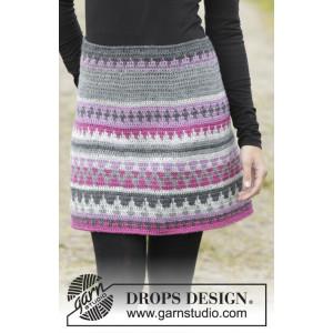 Color of Winter by DROPS Design - Kjol Virk-opskrift strl. S - XXXL