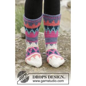 Colorful Winter by DROPS Design - Sockor Virk-opskrift strl. 35/37 - 4