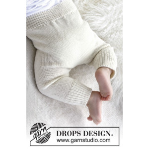 Cozy and Cute by DROPS Design - Baby Byxor Stick-mönster  strl. 1/3 md