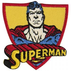 DC Comics Superman Strykmärke med Text 6x5