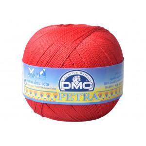 DMC Petra nr. 5 Virkgarn Unicolor 5321 Röd