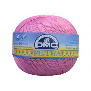 DMC Petra nr. 5 Virkgarn Unicolor 53608 Rosa