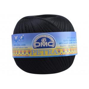 DMC Petra nr. 8 Virkgarn Unicolor 5310 Svart