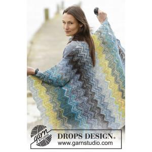 Dancing On The Dock by DROPS Design - Filt Stick-opskrift 114x90 cm