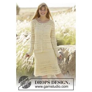 Daniella by DROPS Design - Jacka och kjol set Virk-opskrift strl. S -